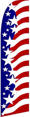 Usa Star Spangled American Swooper Banner Feather Flutter Tall Curved Top Flag