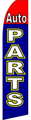 Auto Parts Car Repair Garage Swooper Banner Feather Flutter Tall Curved Top Flag