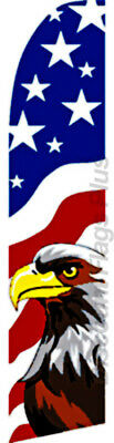 Usa Eagle American Country Swooper Banner Feather Flutter Tall Curved Top Flag