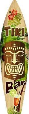 Tiki Bar Sign (TIKI BAR METAL NOVELTY SURFBOARD)