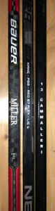 Lot of all 3 Pro Stock hockey sticks baton Gaucher Left