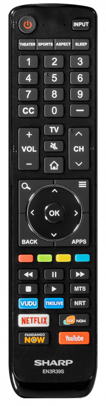 SHARP EN3R39S UHD TV Remote Control - Brand New Original SHA
