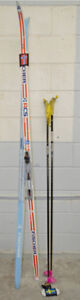 Cross Country Racing Skis 200cm Fischer RCS Wax Base & Poles