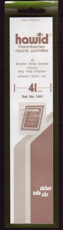 hawid Klemmtaschen  Streifen schwarz 210 mm lang für Markenhöhe 21 mm bis 55 mm 210 mm x 41 mm