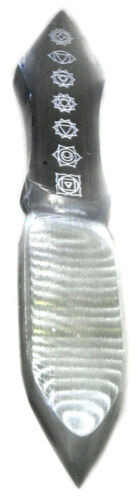 """Selenite Chakra athame 10"""" Wholesale Wiccan Witchcraft Supply Store"""