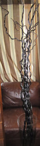 XL GLASS VASE WITH TALL DARK WOOD BRANCHES