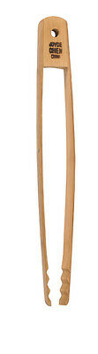 Joyce Chen 33-2047, Burnished Bamboo Tongs, 11-Inch