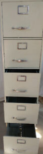 Metal Filing Cabinet with 5 deep drawers / Office table top