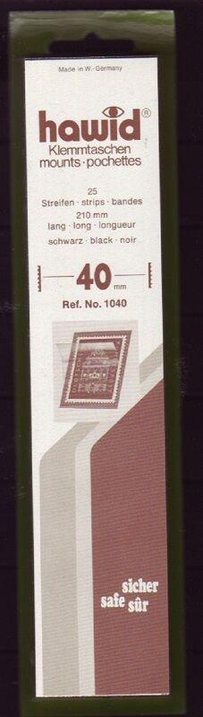 hawid Klemmtaschen  Streifen schwarz 210 mm lang für Markenhöhe 21 mm bis 55 mm 210 mm x 40 mm