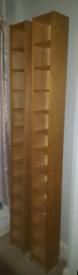 Pair IKEA BENNO OAK Long CD/DVD/BOOK Storage Adjustable Shelving Unit
