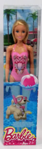 Barbie Pool Swimsuit with Flamingo 12 IN Action Doll Sealed Box
