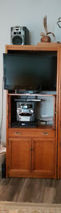 TV & Stereo Cabinet-SOLID OAK