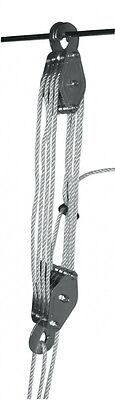Flaschenzug Hebezug  Seilzug mit Umlenkrollen bis 400 kg + 20 m Seil NEU !