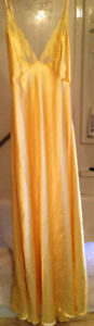 VERY LOW BACKED, SUNSHINE YELLOW NIGHTGOWN