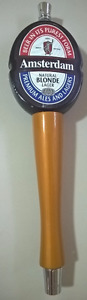 "Original Amsterdam ""NATURAL BLONDE LAGER"" Beer Tap Handle"