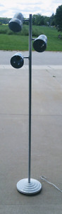 """65"""" Tall White Floor lamp with 3 Moveable Light Heads"""