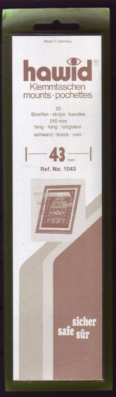 hawid Klemmtaschen  Streifen schwarz 210 mm lang für Markenhöhe 21 mm bis 55 mm 210 mm x 43 mm