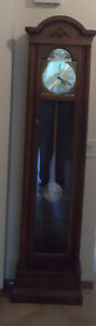 Small Cased Grandfather Clock with Hermle Mechanism