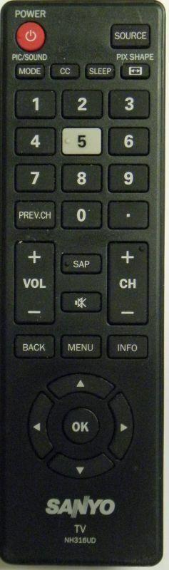 SANYO NH316UD TV Remote Control - BRAND NEW Original SANYO N