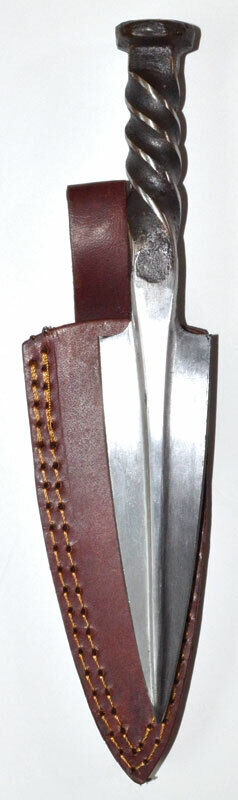 """Spear Style Heavy Duty Forged Steel Twisted Handle 10"""" Athame Knife Dagger"""
