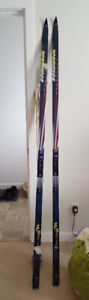 Cross country Rossignol skis and poles