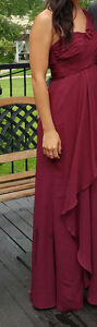One Shoulder Chiffon Dress Bridesmaid Dress Style F15734 Size 4 Kitchener / Waterloo Kitchener Area image 2