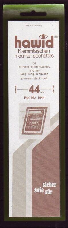 hawid Klemmtaschen  Streifen schwarz 210 mm lang für Markenhöhe 21 mm bis 55 mm 210 mm x 44 mm