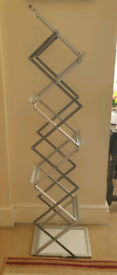 A4 Zig Zag Folding Exhibition Display Stand
