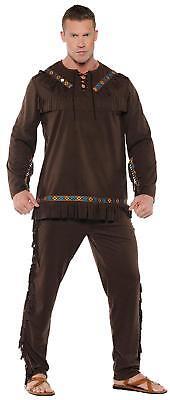 Erwachsene Indianer Chief Fransen Top & Hose Kostüm UR28058