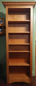 Bookcase: Solid Maple - Custom Made - New and Unused