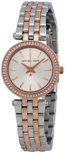 NEW Michael Kors Women's MK3298 Mini Darci 2-Tone Watch