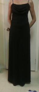 Elegant Long black dress,with sparkles (suits size 5/6)
