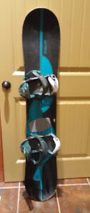 Burton 149 Snowboard with bindings in Crowsnest Pass