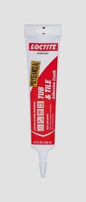 Loctite Acrylic Tub & Tile Adhesive Caulk CLEAR 5.5 oz. Mold Resistant 2138419 Tile Acrylic Caulk
