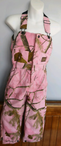 Girls Pink Camouflage lined coveralls 4T