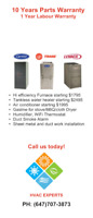 Furnace, Water heater, Ecobee Thermostat