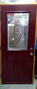 Charming Burgundy Door for Sale at Habitat for Humanity