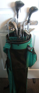 Right Handed Golf Clubs and Bag