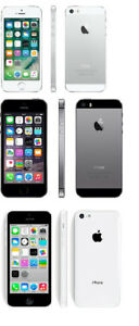 Unlocked Apple iPhone 5s 16GB (1 new, 1 used), iPhone 5c 8GB