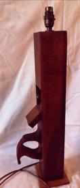 Wooden hand plane lamp handmade
