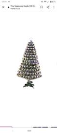3ft fiber optic snowy Christmas tree