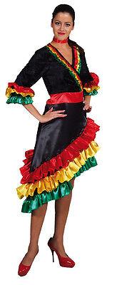 Flamenco Kleid Kostüme (Flamenco Kostüm Kleid Damen Karneval Fasching Motto Party Spanierin Tanz Samba)