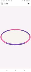 Pink and purple hula hoop