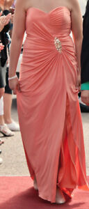 Prom Dress Robe de bal Corail Coral Taille 12