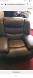 2x leather recliners mint condition hardly sat in 150 bargain!
