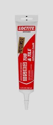 Loctite Acrylic Tub & Tile Adhesive Caulk WHITE 5.5 oz. Mold Resistant 2138420 Tile Acrylic Caulk