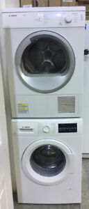 "Bosch White 24"" front load washer & dryer PRICE $1499"