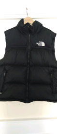 The North Face navy blue and black body warmer 700 size xl