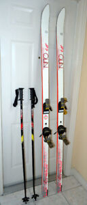 OLIN Sp3 196cm Downhill Skis with Poles Made in Austria