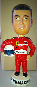 VERY RARE....MICHAEL SCHUMMACHER FERRARI FORMULA 1 BOBBLE HEAD